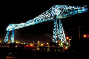 Transporter Bridge Siesta Blinds