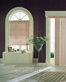 wood venetian blind and vertical blind
